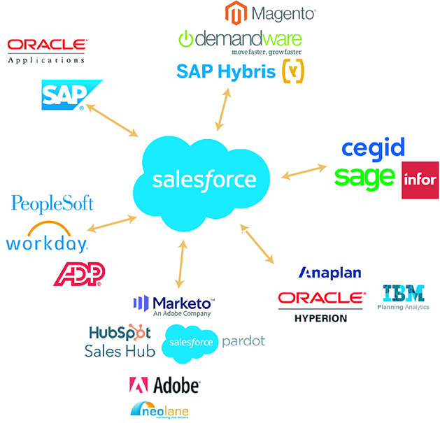 customer overview Salesforce hub data application