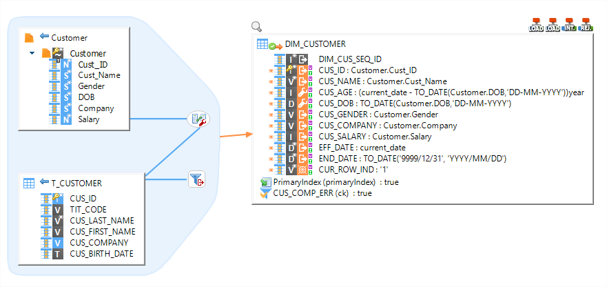 Data mapping on Teradata with Stambia